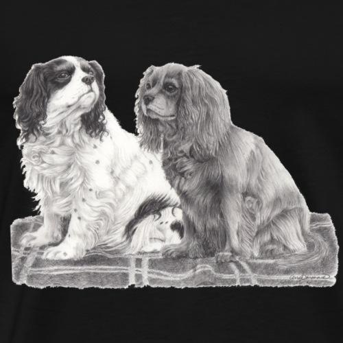 Cavalier King Charles spaniels - Herre premium T-shirt