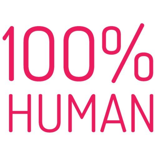 100% Human in roze - Mannen Premium T-shirt