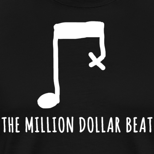 The million dollar beat - Musiker T-Shirt - Männer Premium T-Shirt
