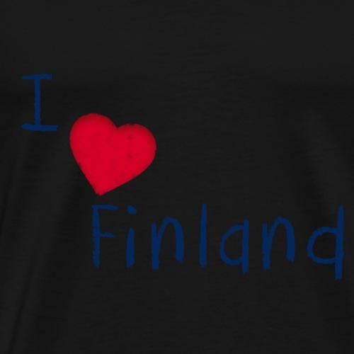 I Love Finland - Miesten premium t-paita