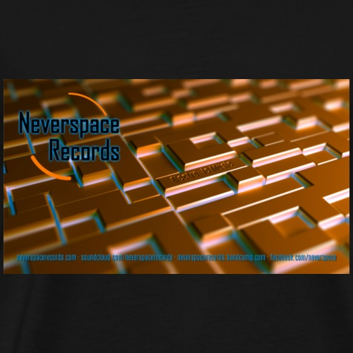 Neverspace Records Wallpaper - Männer Premium T-Shirt