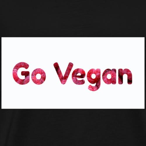 Go Vegan - motif Framboises - T-shirt Premium Homme