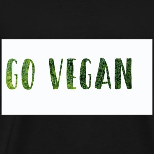 Go Vegan - motif Végé - T-shirt Premium Homme