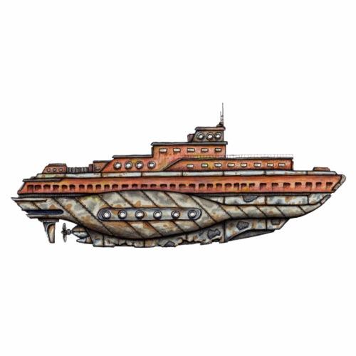 U-Boot alt und rostig - Männer Premium T-Shirt
