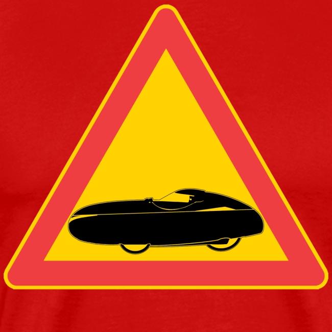 Traffic sign velomobile