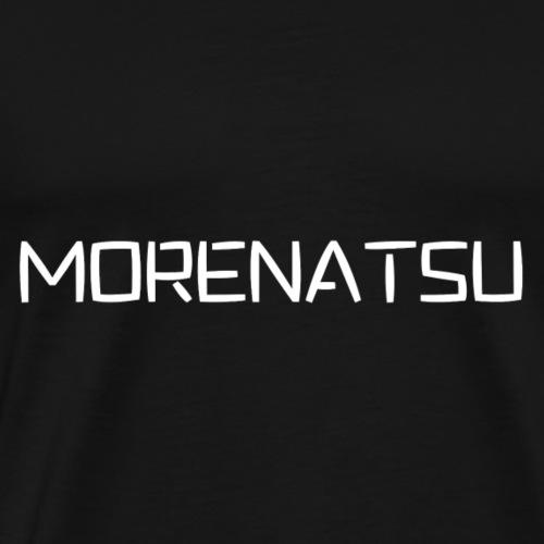 Morenatsu Font White - Men's Premium T-Shirt