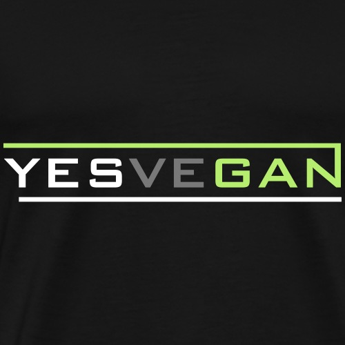 YESVEGAN - Männer Premium T-Shirt