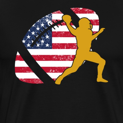 Quarterback Football America Flag - Männer Premium T-Shirt
