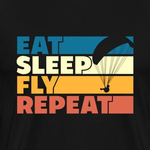 Eat Sleep Fly Repeat Retro Style - Männer Premium T-Shirt