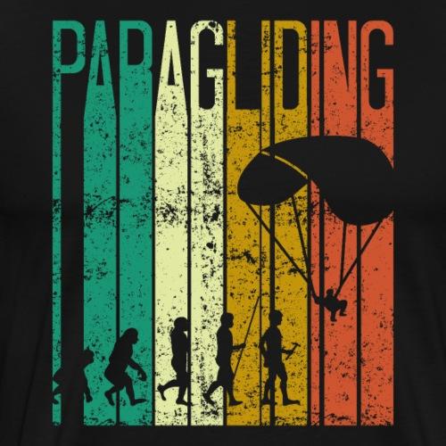 Paragliding Evolution Vintage Retro 70s - Männer Premium T-Shirt