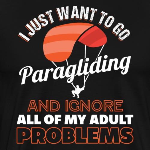 Just Go Paragliding Aerial Sports Gift - Männer Premium T-Shirt