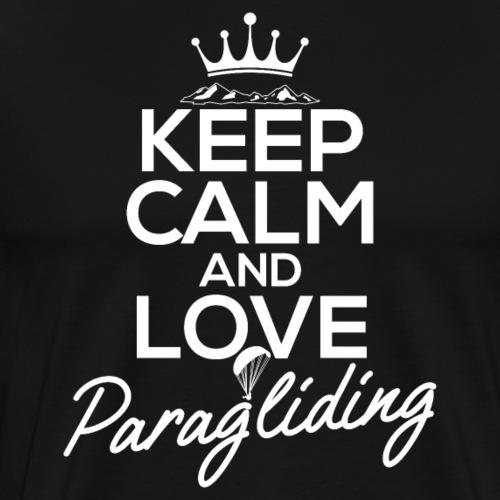 Keep Calm and Love Paragliding - Männer Premium T-Shirt