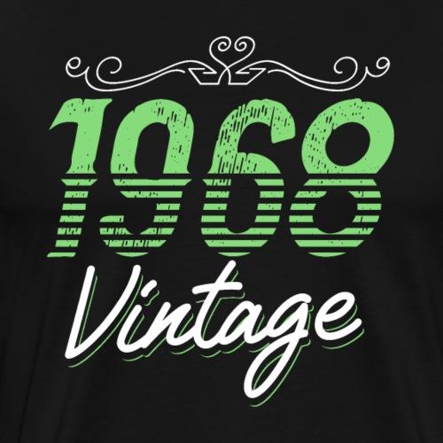Vintage 1968 Birthday Gift - Männer Premium T-Shirt