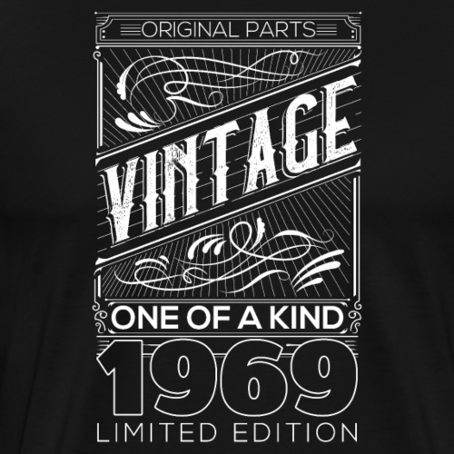 Vintage 1969 Funny Birthday Gift - Männer Premium T-Shirt