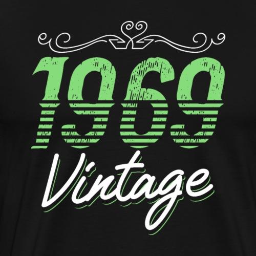 1969 Vintage Birthday Gift - Männer Premium T-Shirt