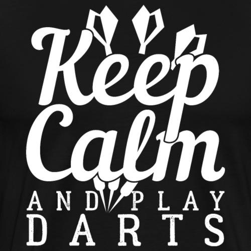 Keep Calm And Play Darts - Männer Premium T-Shirt