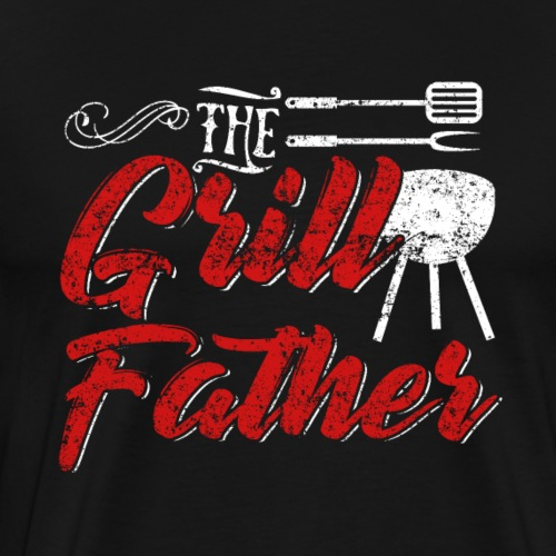 The Grillfather Godfather Barbeque BBQ - Männer Premium T-Shirt