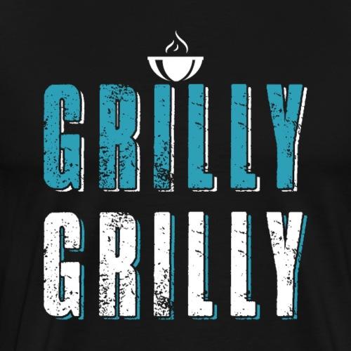 Funny BBQ Grill - Männer Premium T-Shirt