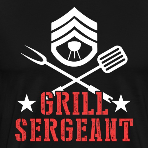 Grill Sergeant Barbeque Fan Lover - Männer Premium T-Shirt