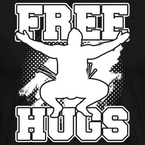 Sumo Free Hugs Wrestle Fan Gift - Männer Premium T-Shirt