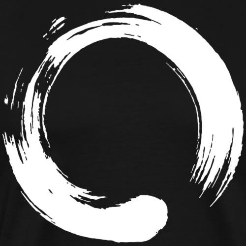 Enso Zen Symbol Buddhismus Kalligrafie Yoga Kreis - Männer Premium T-Shirt
