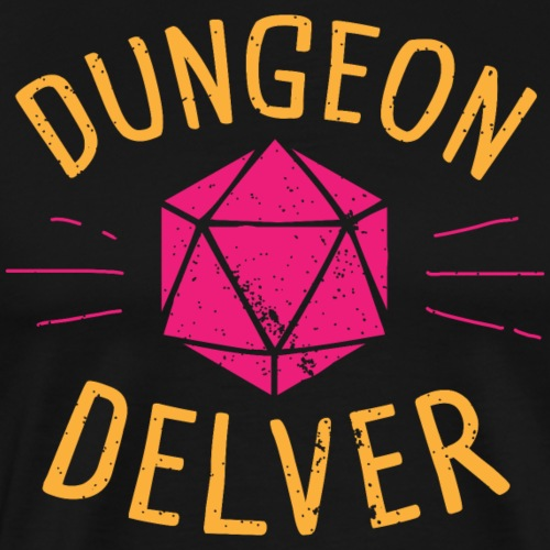 Dungeon Delver yellow pink - Men's Premium T-Shirt