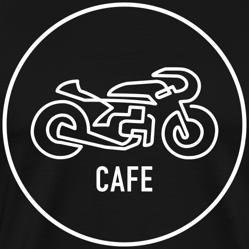 »One Line« Motorcycle - »CAFE« - Männer Premium T-Shirt