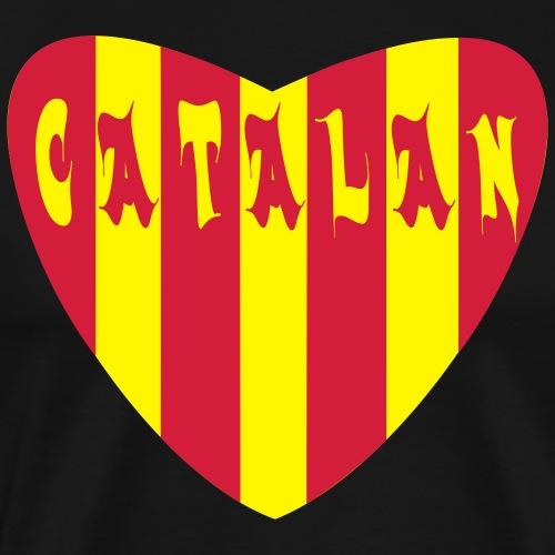 herz catalan rot gelb - Männer Premium T-Shirt