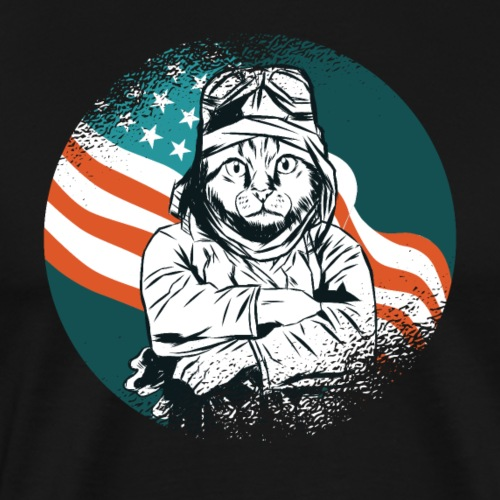 "USA Pilot Cat T-Shirt ""Limitierte Edition"""