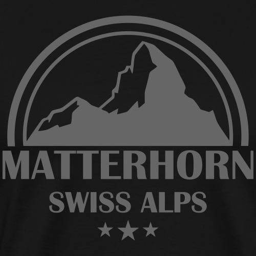 Wallis Matterhorn - Gestalte dein Hoodie selber - Männer Premium T-Shirt