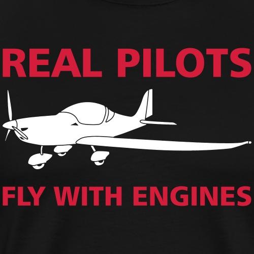 Pilot Flugzeug fliegen Geschenk T-Shirt - Männer Premium T-Shirt