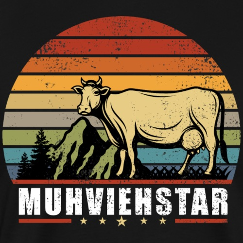 Muhviehstar Rind Bauer Traktor Landwirt Kuh Shirt