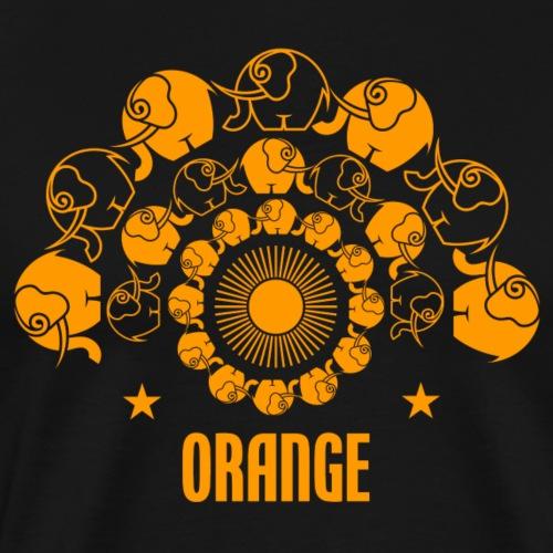 Orangevibes Elefanten - Männer Premium T-Shirt