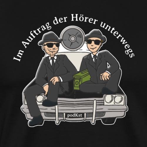 podKst-Rücken-Unterwegs - Männer Premium T-Shirt