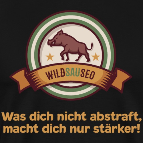 Wildsauseo T-Shirt zur WildSauSeo challenge - Männer Premium T-Shirt