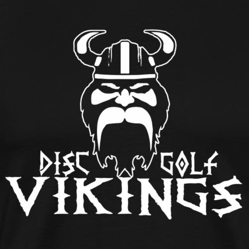 DGV logo valkoinen - Miesten premium t-paita