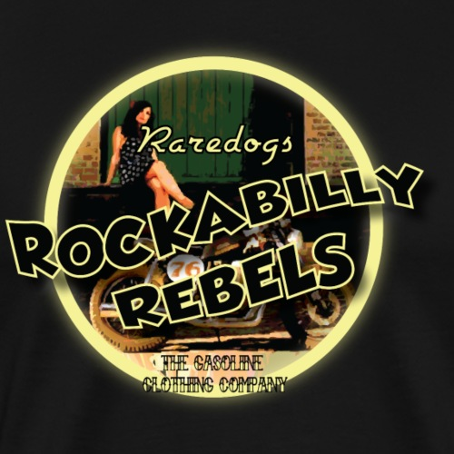 rockabilly rebels pinup - Herre premium T-shirt