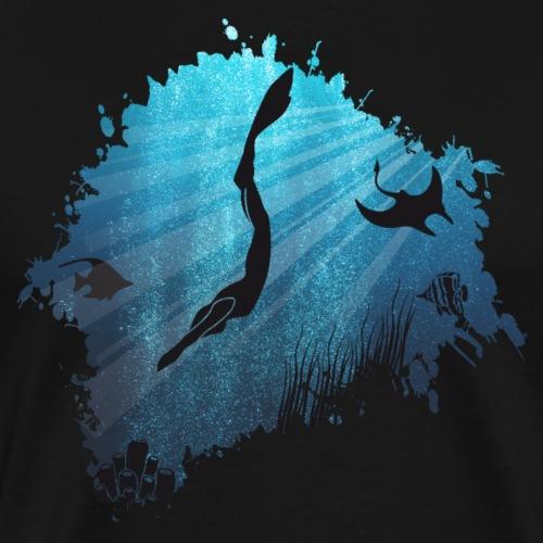 Apnoetauchen - Männer Premium T-Shirt