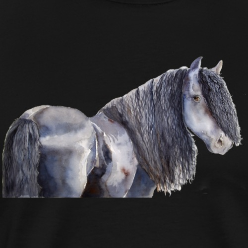 friesian horse color - Herre premium T-shirt