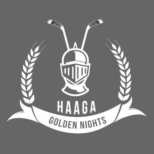 Haaga Golden Nights - White - Miesten premium t-paita