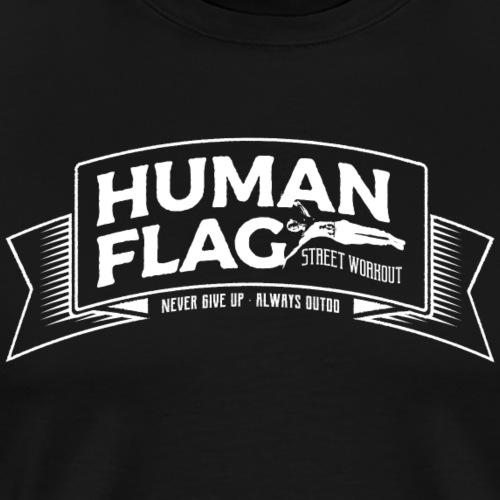 HumanFlag White