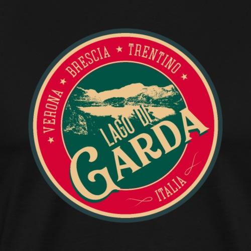 Lago Di Garda Italia Retro Sticker T-Shirt Design - Men's Premium T-Shirt