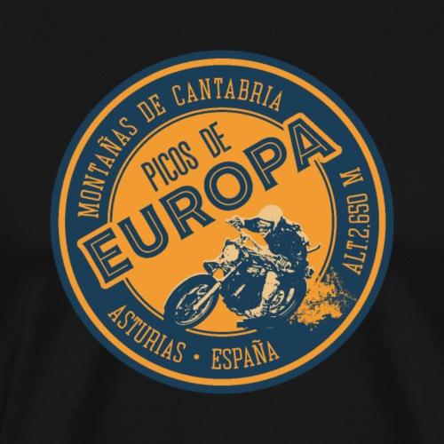 Picos de Europa Motorcycle Sticker Tee Design - Men's Premium T-Shirt