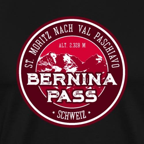 Bernina Pass Switzerland Sticker Tee Design - Men's Premium T-Shirt