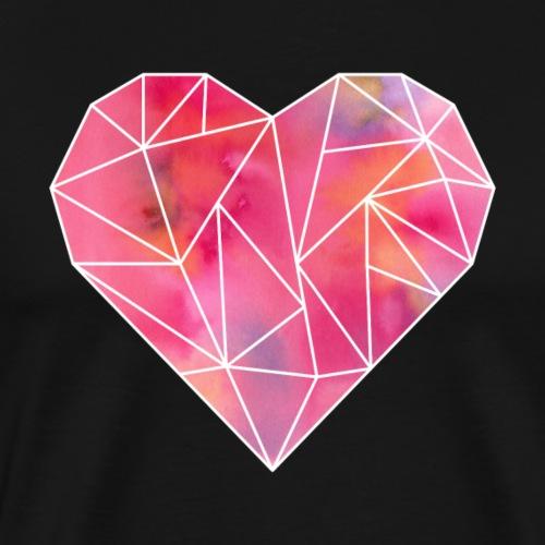 Heißblütiges Herz - Männer Premium T-Shirt