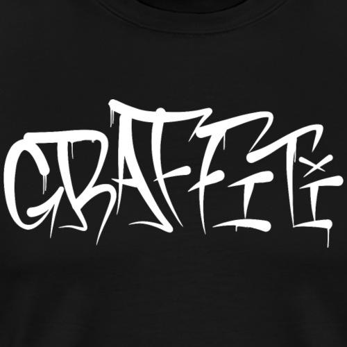 Graffiti Tag - Weiß - Männer Premium T-Shirt