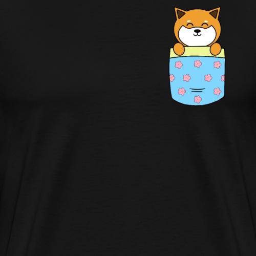 Shiba Inu i lommen - Herre premium T-shirt
