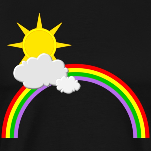 Regenbogen, Sonne, Wolken - Männer Premium T-Shirt