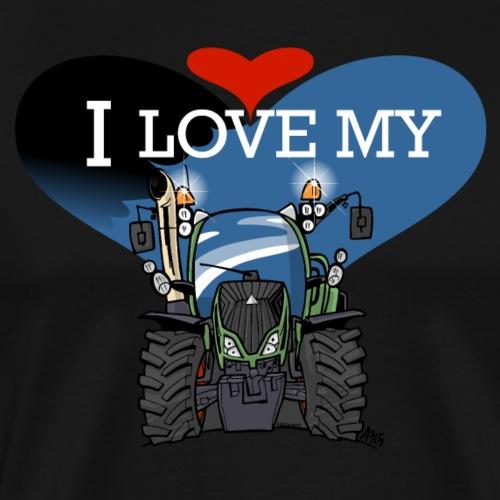 0841 I love my F - Mannen Premium T-shirt