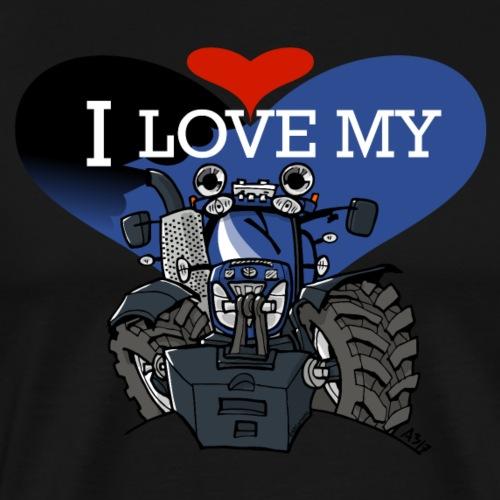 0841 0533 I love my NH - Mannen Premium T-shirt